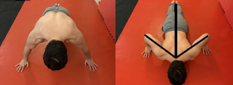 Alessandro Mainente esegue i piegamenti larghi