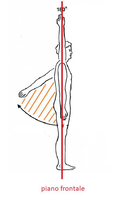 Estensione scapolo-omerale per V-sit e manna